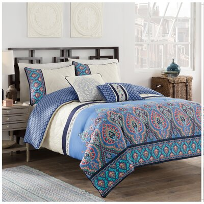 Malia 5 Piece Reversible Comforter Set Size: King