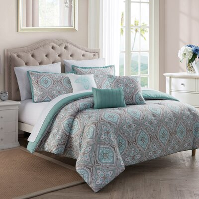 10 Piece Reversible Comforter Set Size: Full/Queen
