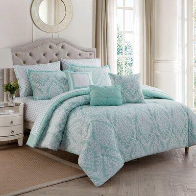10 Piece Reversible Comforter Set Size: King