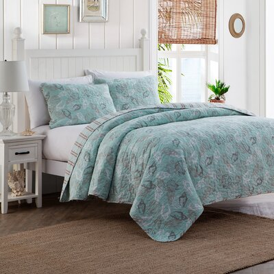 3 Piece Reversible Quilt Set Size: Full/Queen