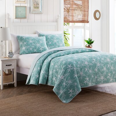 Khloe Cotton 3 Piece Reversible Quilt Set Size: Full/Queen