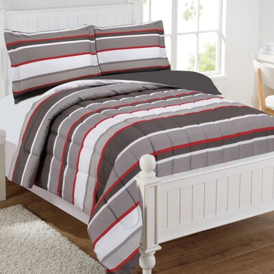 Jace Stripe Comforter Set Size: Full