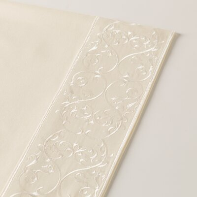 400 Thread Count Embroidered Sheet Set Size: Twin, Color: Ivory