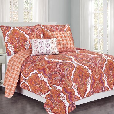 Brilliance Paisley Quilt Set Size: Twin