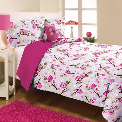 Kids Pink Comforter Set Size: Twin