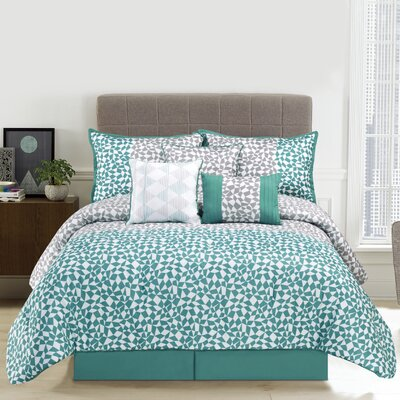 Piccadilly 7 Piece Comforter Set Size: Queen