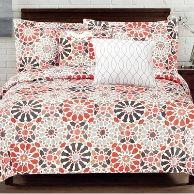 Carson Geo 5 Piece Comforter Set Size: King