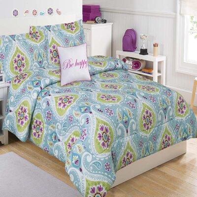 Tatiana Geo 4 Piece Comforter Set Size: Full