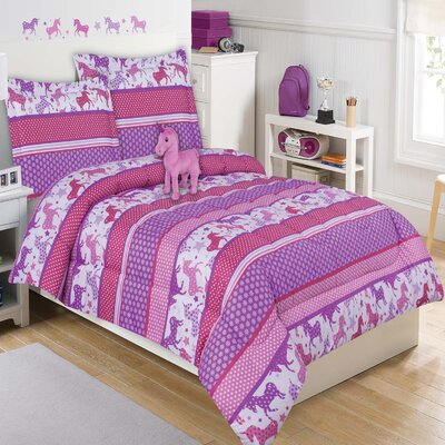Unicorn Sly Comforter Set Size: Full