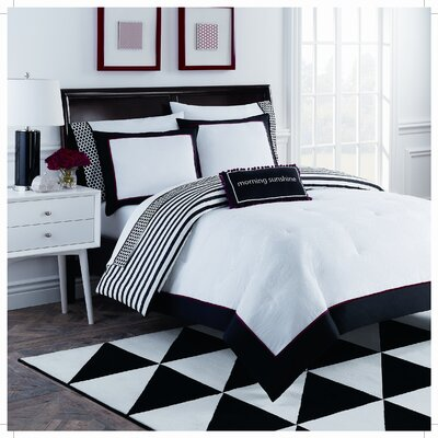 Dahlia 8 Piece Comforter Set Size: King