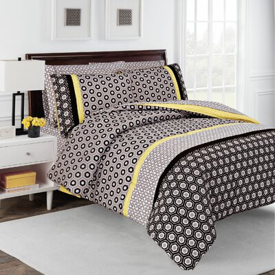 Hexagon 7 Piece Comforter Set Size: Full