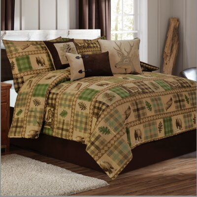 Woodland 7 Piece Duvet Set Size: Full