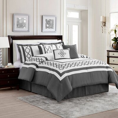 Bailey 7 Piece Comforter Set Size: King