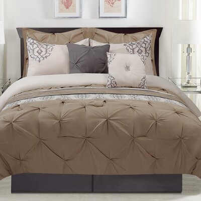 Sarasa 8 Piece Comforter Set Size: Queen