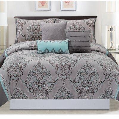 6 Piece Comforter Set Size: King
