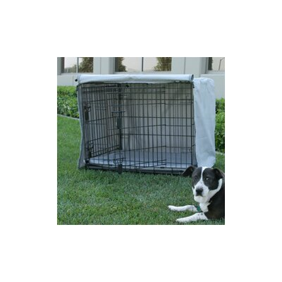 """Animated Pet Precision Great Crate 2-Door Dog Crate Cover and Pad Set - Depth: 36"""", Color: Sand at Sears.com"""