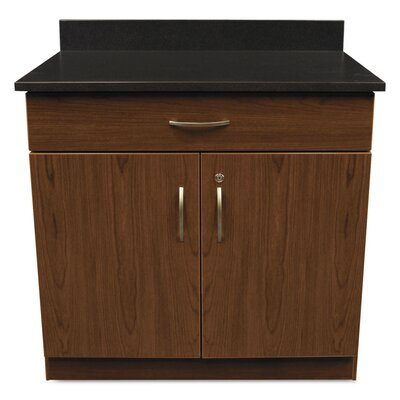 Plus?2 Door Storage Cabinet Finish: Cherry / Granite Nebula Product Image 1810