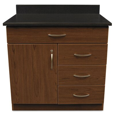 Plus?Hospitality 1 Door Storage Cabinet Finish: Cherry / Granite Nebula Product Photo 283