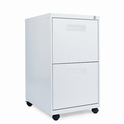 2-Drawer Metal Pedestal File Finish: Light Gray Product Photo 284