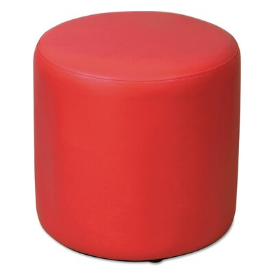 WE Series Collaboration Seating Leather Ottoman Upholstery: Cardinal