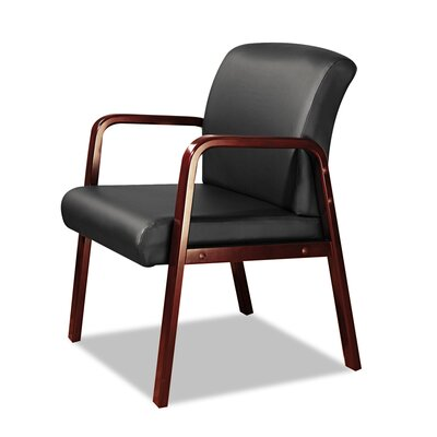 Barcia Lounge Series Leather Guest Chair Frame Finish: Mahogany