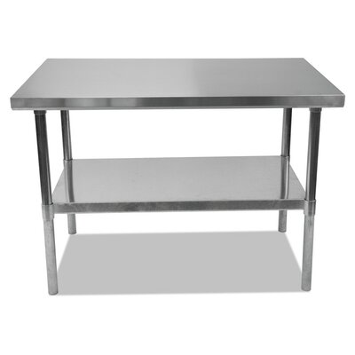 Umbra Stainless Steel Dining Table Size: 35 H x 48 W x 30 D