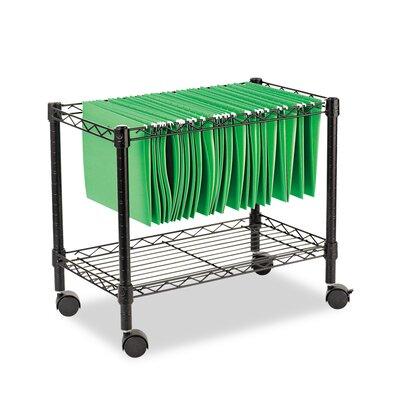 1-Tier Rolling File Cart ALEFW601424BL
