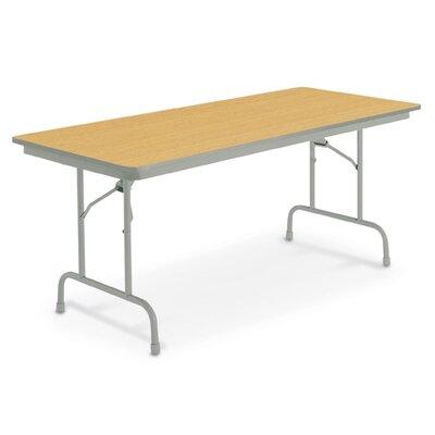 """KI Furniture Heritage Rectangular Folding Table - Finish: English Oak, Size: 36"""" x 72"""""""