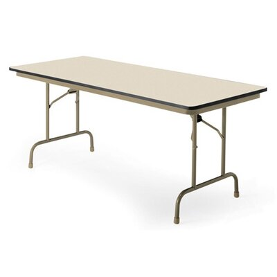 """KI Furniture Premier Rectangular Folding Table - Finish: English Oak, Size: 36"""" x 72"""""""