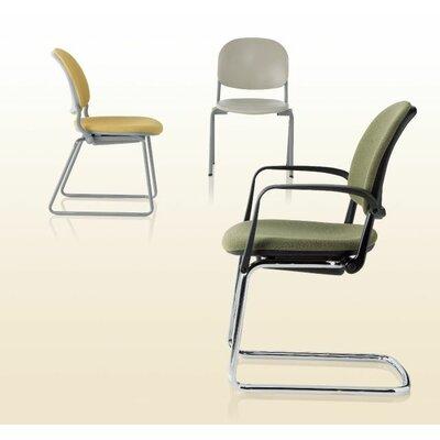 Torsion Full Sled Base Guest Chair Armrest Color: Black, Finish: Black, Back Color: Black