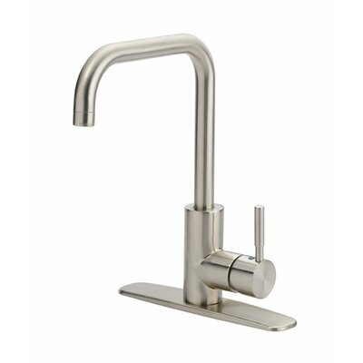 Prime Single Handle Kitchen Faucet Finish: Chrome