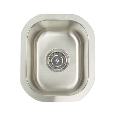Premium Series 12.5 x 14.75 Undermount Single Bowl Bar Sink
