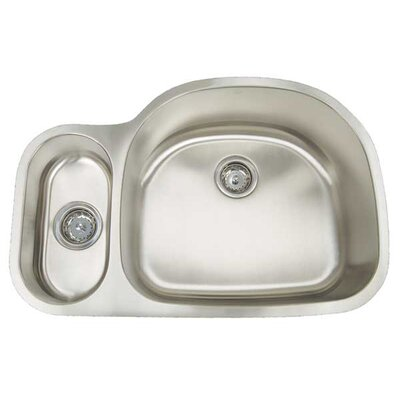 Premium Series 31.5 x 20.75 Double Bowl Undermount Kitchen Sink Sink
