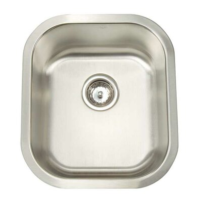 Premium Series 16.5 x 18.5 Undermount Single Bowl Bar Sink
