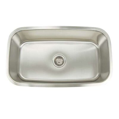 Premium Series 31.5 x 18.25 Rectangular Single Bowl Undermount Kitchen Sink