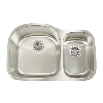 Manhattan 31.125 x 20.5 Double Bowl Undermount Kitchen Sink