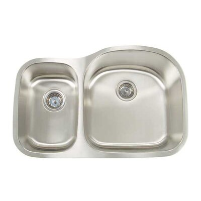 Premium Series 31.125 x 20.5 Double Bowl Undermount Kitchen Sink