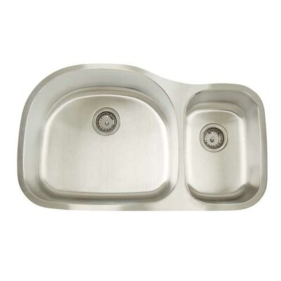 Premium Series 35 x 20.75 Double Bowl Undermount Kitchen Sink