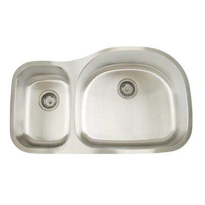 Premium Series 35 x 20.75 Double Bowl Undermount Kitchen Sink