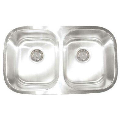 Manhattan 30 x 17.75 Double Bowl Undermount Kitchen Sink