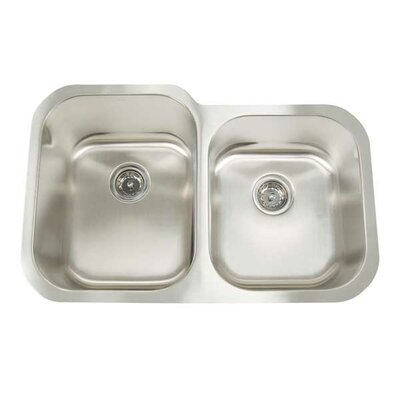 Premium Series 31 x 20 Double Bowl Undermount Kitchen Sink