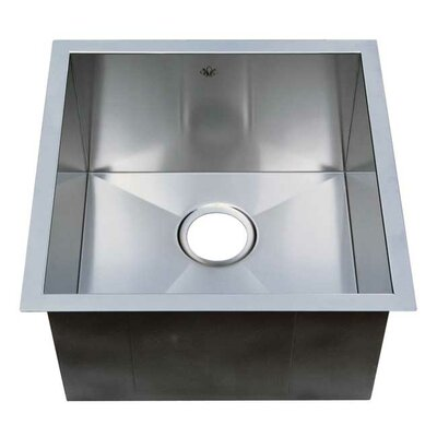 Chef Pro 19 x 19 Zero Radius Single Bowl Undermount Kitchen Sink