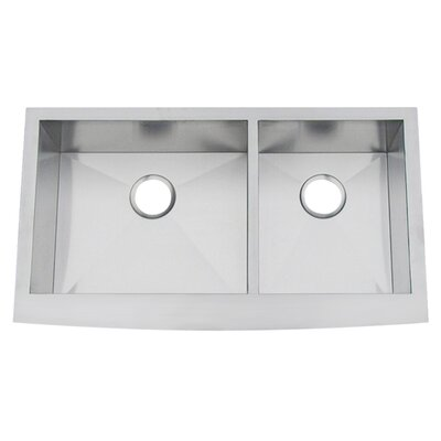 Chef Pro 35.75 x 20.75 Zero Radius Double Bowl Farmhouse Kitchen Sink