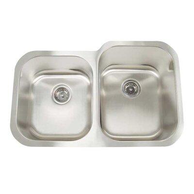 Premium Series 31 x 20 Double Bowl Undermount Kitchen Sink