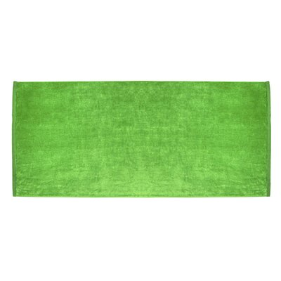 Terry Velour Premium Beach Towel Color: Lime