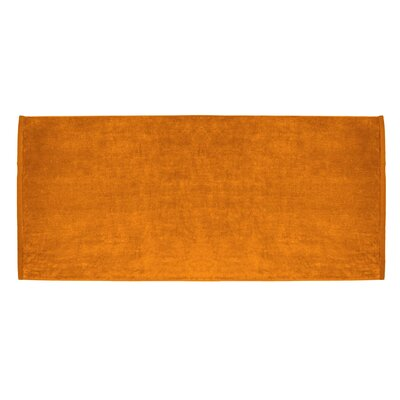 Terry Velour Premium Beach Towel Color: Orange