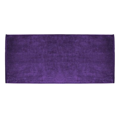 Terry Velour Premium Beach Towel Color: Purple