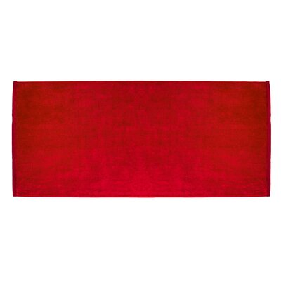 Terry Velour Premium Beach Towel Color: Red