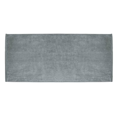 Terry Velour Premium Beach Towel Color: Silver