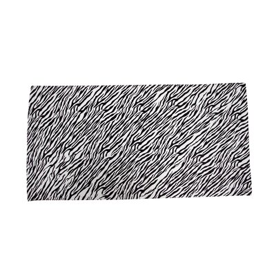 Terry Velour Zebra Beach Towel